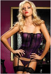 Walk on the Wild Side Corset Lila