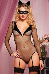 Cat Woman Bedroom Costume Set Negro